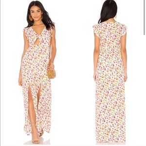 NWT Jack by BB Dakota Brylee Tie-Front Maxi Dress